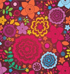 floral ornamental poster vector image