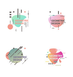 geometrical abstract background vector image vector image