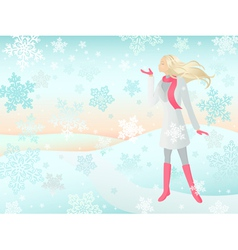 snow girl vector image vector image