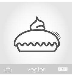 Thanksgiving Pie outline icon Thanksgiving vector image