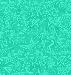 Turquoise seamless star pattern background vector