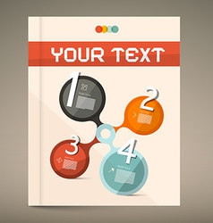 Brochure and Book Layout Cover vector image vector image
