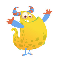 cartoon of an orange fat monster vector image