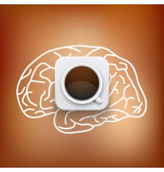 cup of coffee and heart background vector image vector image