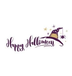 happy halloween hand drawn banner vector image