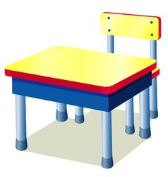 School table vector image vector image