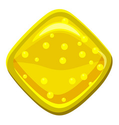 yellow candie icon cartoon style vector image vector image