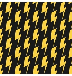 Yellow lightnings black seamless pattern vector image vector image