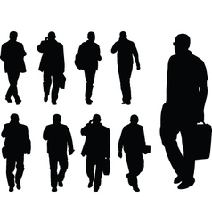 business man collection - vector image vector image