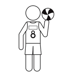 character player volleyball tshirt number 8 vector image