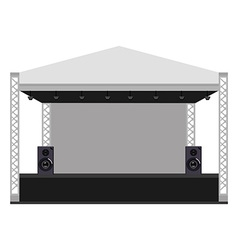 Concert stage vector image