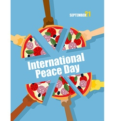 Day of Peace 21 September international holiday vector image vector image