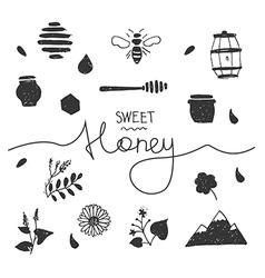 Design elements honey white vector image