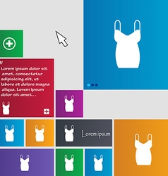 dress icon sign buttons Modern interface website vector image