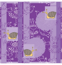 floral snails vector image vector image