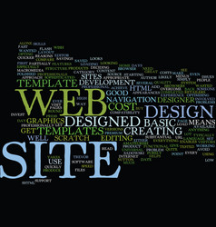 good reasons to use web site templates text vector image vector image