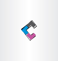 letter c icon logotype abstract tech symbol vector image