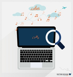 Modern Laptop vector image vector image