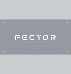 abstract modern urban alphabet fonts typography vector image