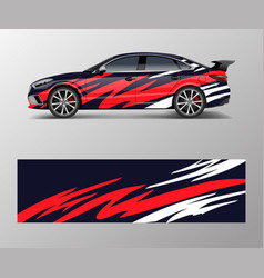 Abstract sport racing car wrap decal and sticker vector
