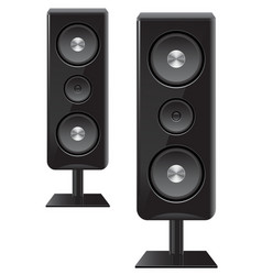 Acoustic speakers with three speakers vector