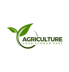 agricultural seeds logo design template vector image