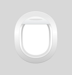 aircraft airplane window travel or tourism vector image