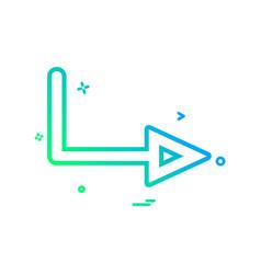 arrow right sign traffic icon design vector image