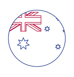 Australian button design vector