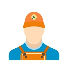Auto mechanic avatar flat icon vector