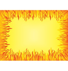 Background with flames border vector