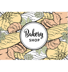 bakery shop horizontal vector image