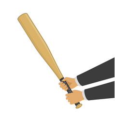 baseball bat in hands vector image