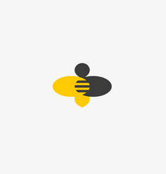 bee honey creative icon symbol hard work vector image