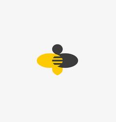 Bee honey creative icon symbol hard work vector