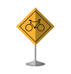 Bicycle zone traffic signal vector