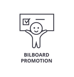 billboard promotion line icon outline sign vector image
