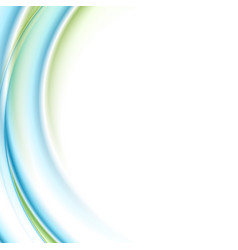 blue green smooth liquid waves abstract background vector image
