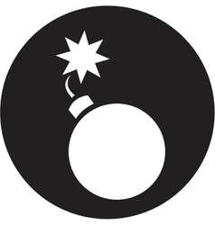 Bomb icon vector