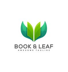 book leaf concept vector image