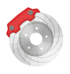 brake disk single icon in cartoon style for design vector image