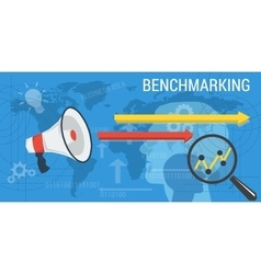 Business background BENCHMARKING vector image