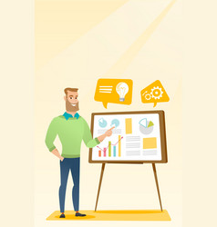 Businessman giving business presentation vector