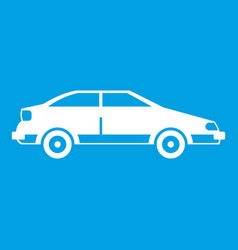 Car icon white vector