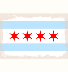 Chicago city flag vector