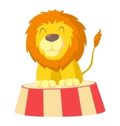 Circus lion icon cartoon style vector