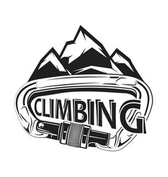 Climbing logotype and badge vector
