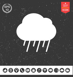 cloud rain icon vector image