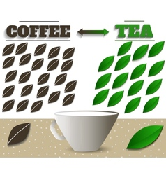 coffee and tea vector image