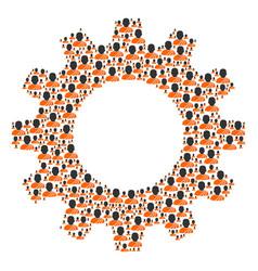 cogwheel collage of buddhist monk icons vector image